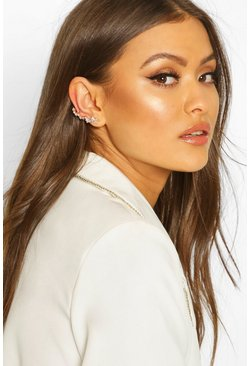 Diamante Ear Cuff, Gold
