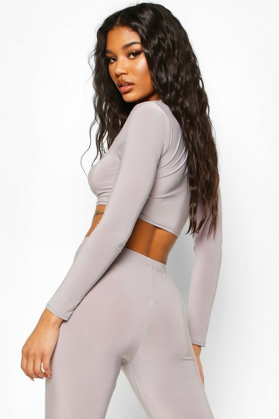 Soft Touch Long Sleeve Gym Crop Top