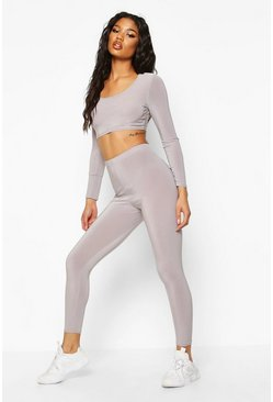 Grey Soft Touch Gym Leggings