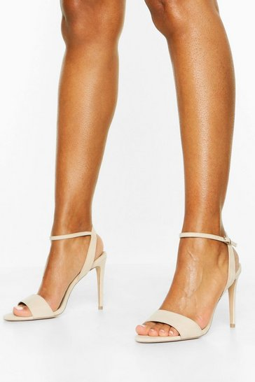 Nude Strappy 2 Part Stiletto Heels