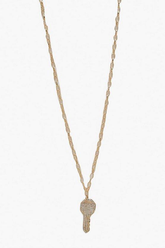 Diamante Key Necklaces