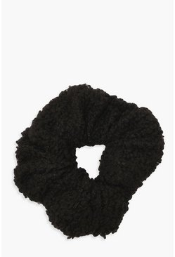Womens Black Borg Scrunchie