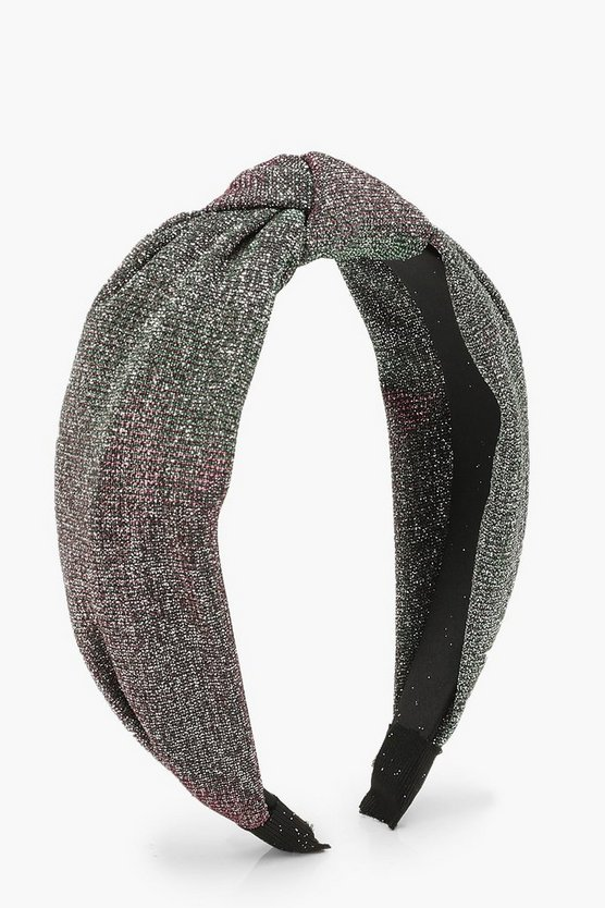 Metallic Shimmer Twist Knot Head Band