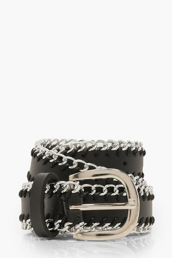 Chain Trim Buckle Belt