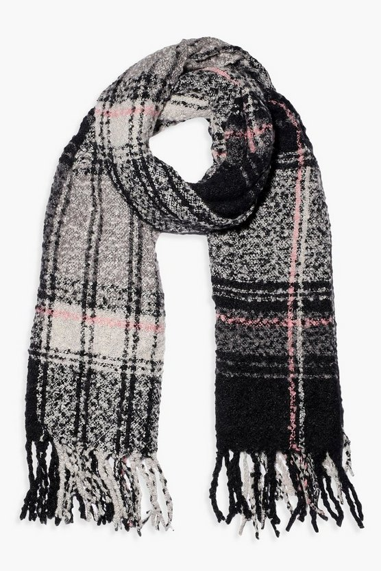 Boucle Overszied Check Scarf