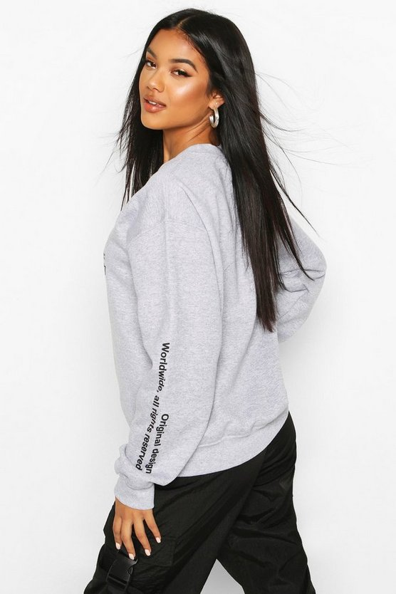 Woman Graphic Oversized Sweatshirt