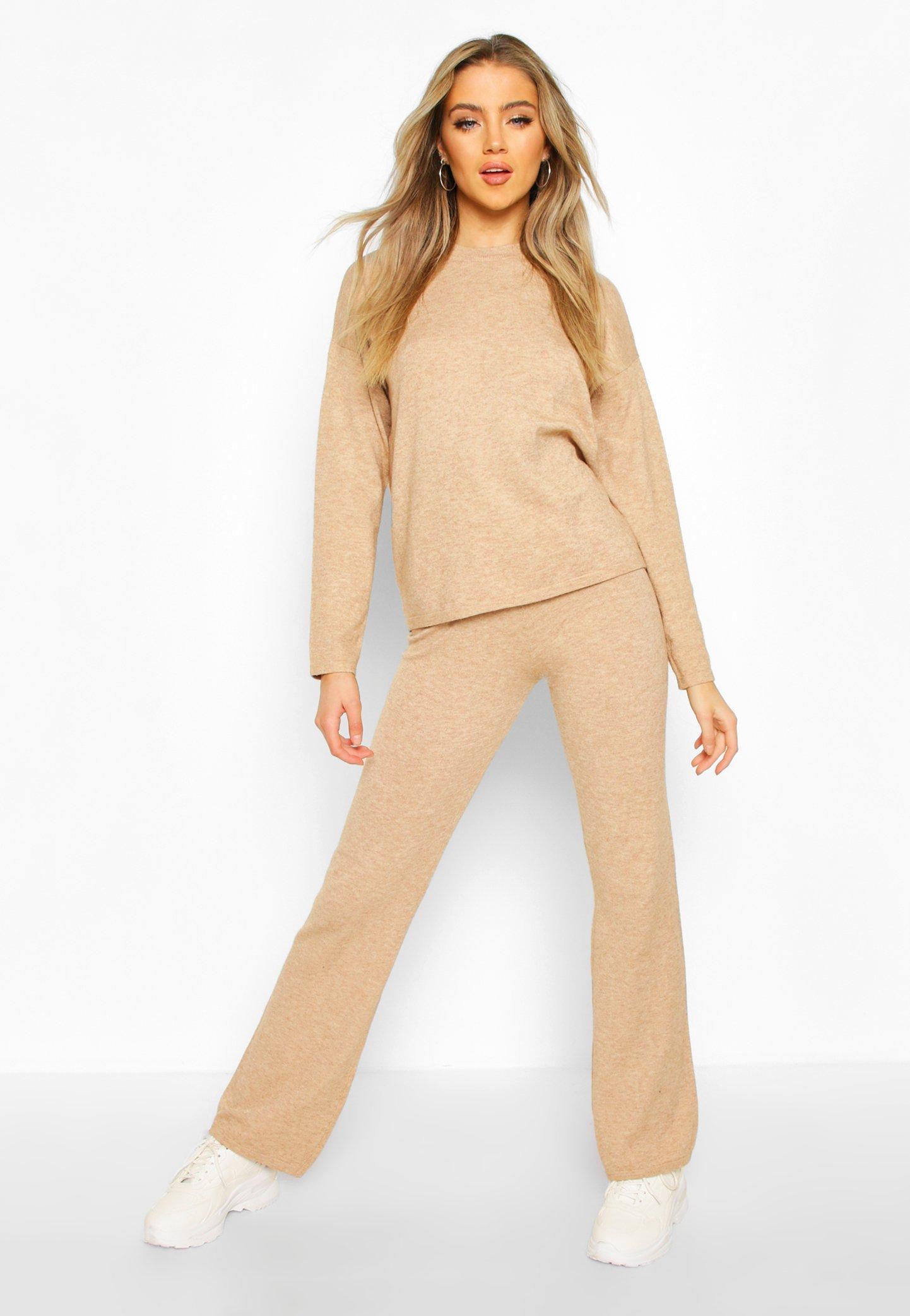 Купить со скидкой Soft Yarn Blend Jumper & Trouser Set