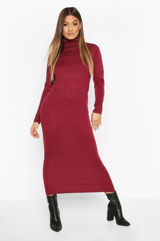 Long Roll Neck Jumper Dress