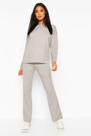 Grey Jumper And Trouser Set
