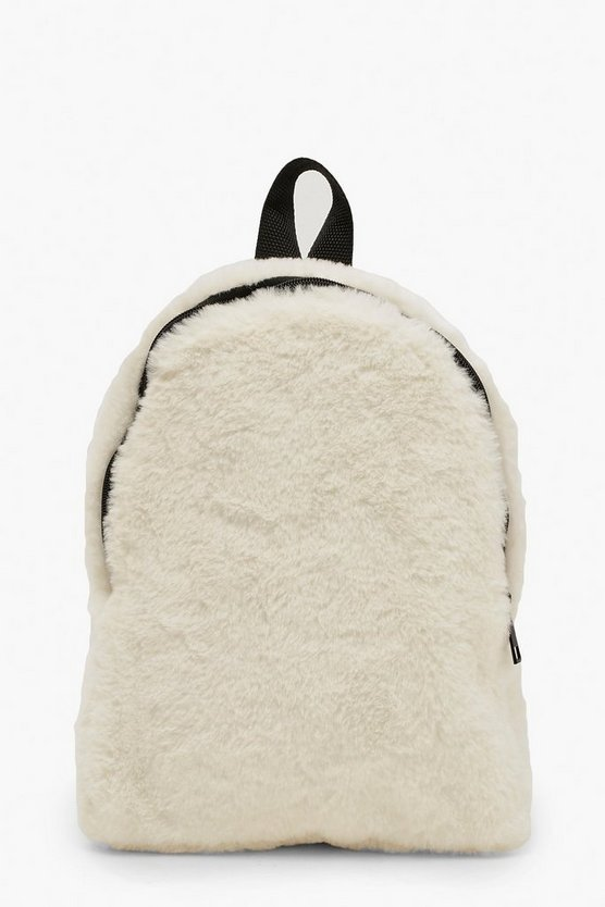 Faux Fur Sports Strap Rucksack