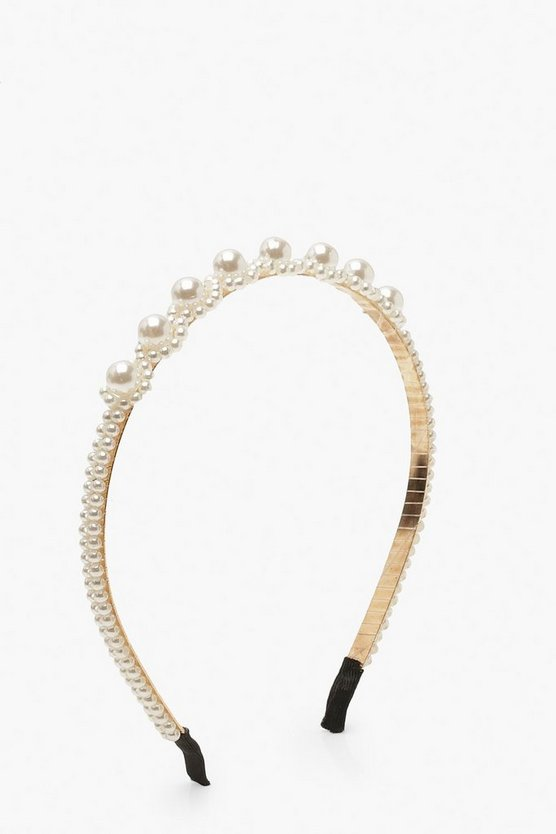 Multi Pearl Head Band