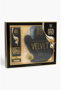Womens Gold Sosu Dark Mousse And Tanning Mitt Gift Set