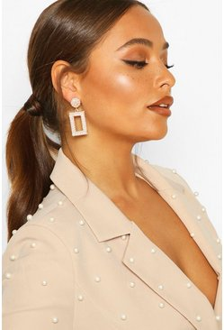 Dam Gold Statement Pearl Door Knocker Earrings