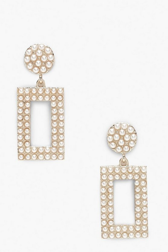 Statement Pearl Door Knocker Earrings