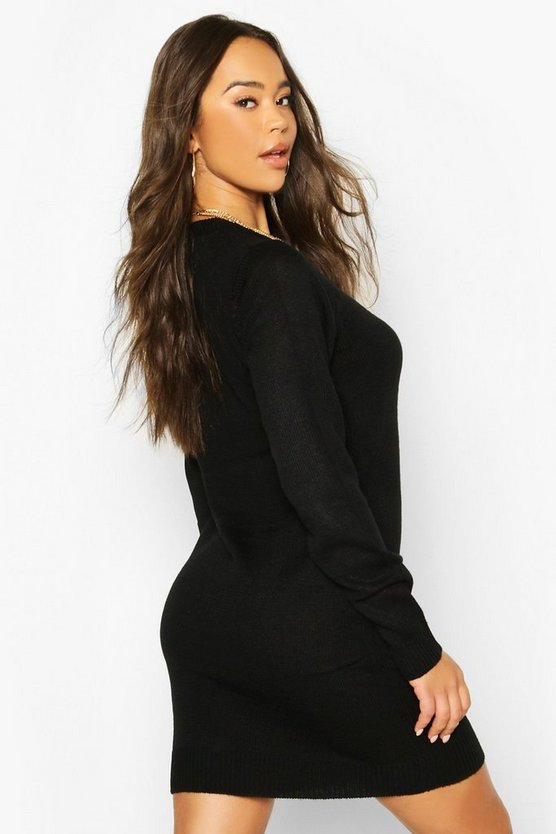 Crew Neck Jumper Dress