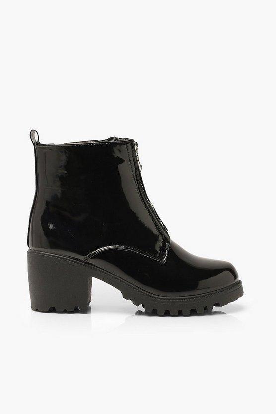 O Ring Block Heel Shoe Boots