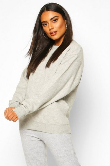 Grey marl Basic Oversized Sweatshirt