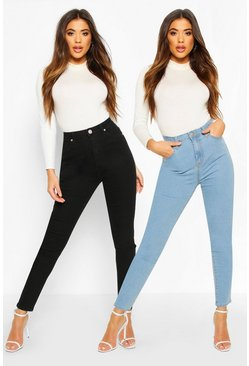 Multi 2 Pack High Rise Skinny Jeans