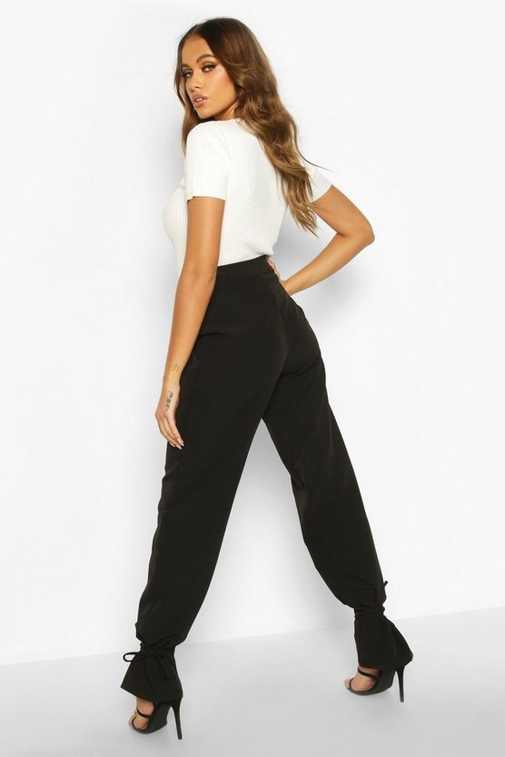 Tie Ankle Tailored Trousers