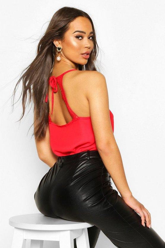 Eyelash Lace Tie Back Cami