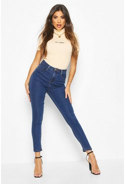 Indigo High Rise Super Stretch Skinny Jean