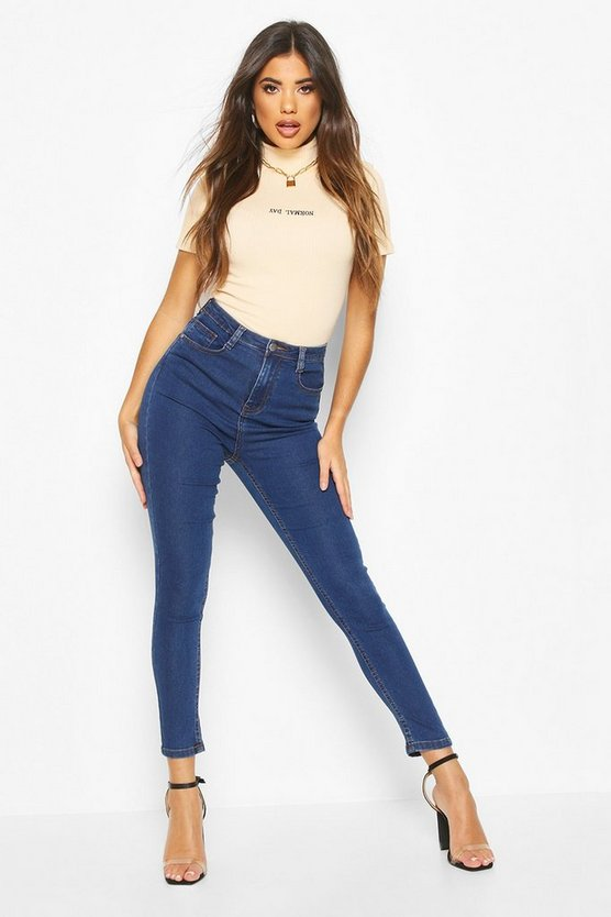 High Rise Super Stretch Skinny Jean