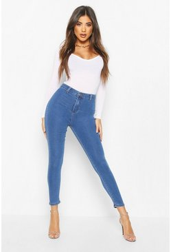 Mid blue High Rise Super Stretch Disco Jean