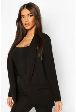 Tailored Blazer, Black, Donna
