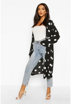 Polka Dot Duster, Black, ЖЕНСКОЕ