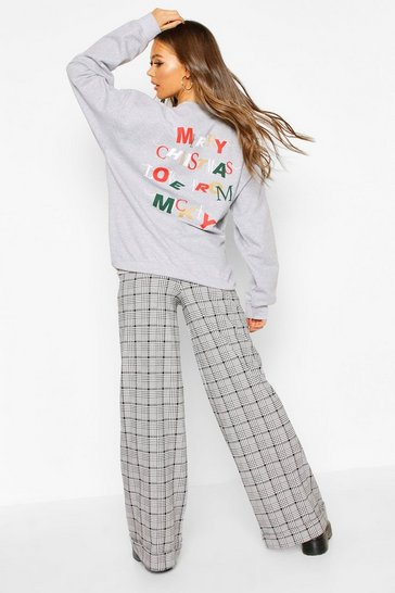 "Womens Grey Disney Metalic """"Merry Christmas"""" Sweat"