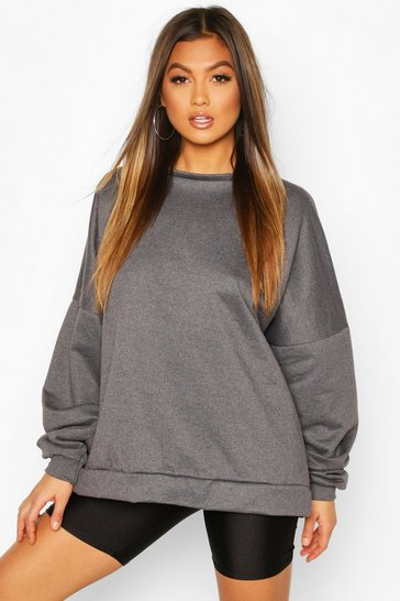 Charcoal Premium Oversized Sweater