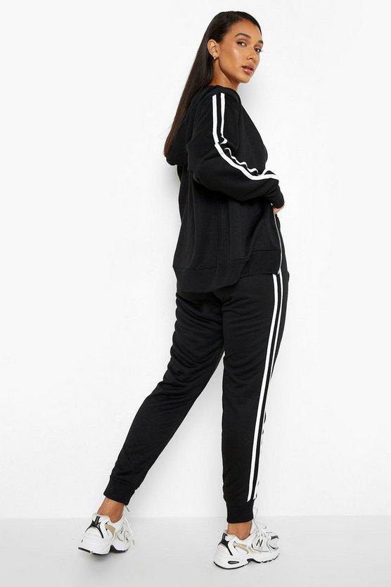 Zip Sports Stripe Jogger Tracksuit Set