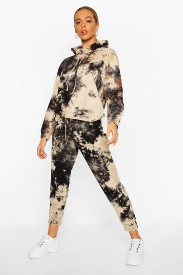 Womens Charcoal Acid Wash Jogger