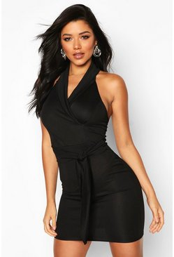 Black Blazer Bodycon Mini Dress