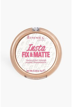White Rimmel Insta Fix Matte Powder Translucent
