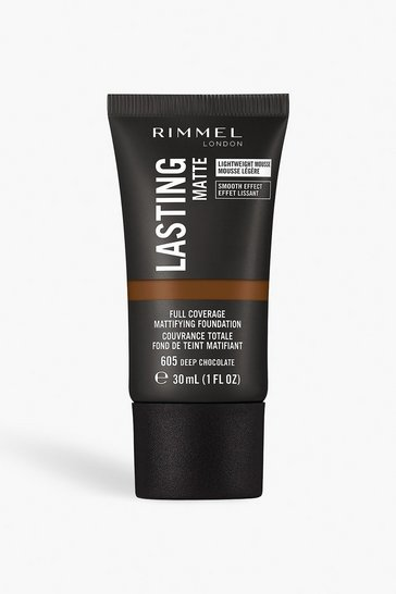 Brown Rimmel London Matte Foundation 605 Deep Chocolate