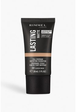 Cream Rimmel London Matte Foundation 201 Classic Beige