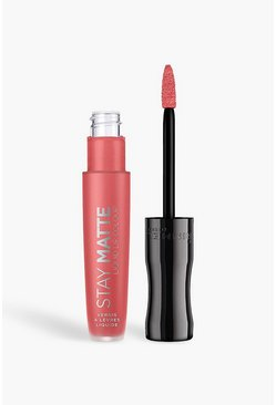 Rimmel London Stay rossetto liquido opaco - Coral Sass, Rosa, Donna