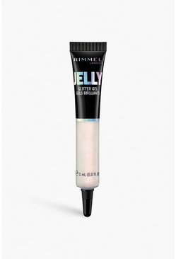 Gel glitterato Rimmel London 100 frosé, Argento, Femmina