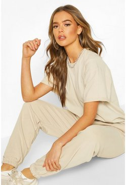 Womens Sand The Basic Mix & Match Oversized Tee