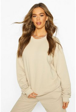 Der grundlegende Mix & Match Oversized-Pullover, Sand