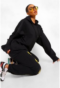 Womens Black The Basic Mix & Match Oversized Hoodie