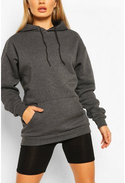 Charcoal The Basic Mix & Match Oversized Hoodie