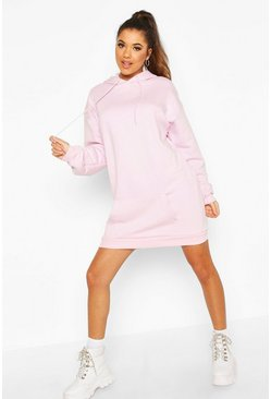 Womens Blush The Basic Mix & Match Oversized Hoodie Dress