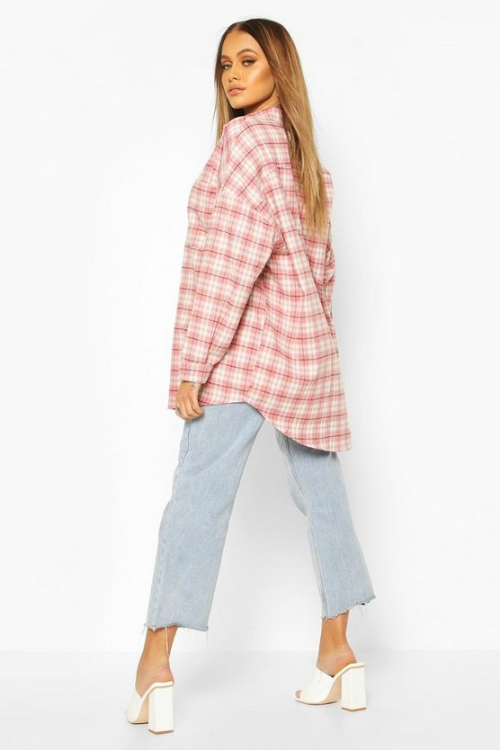 Extreme Oversized Check Shirt With Pockets