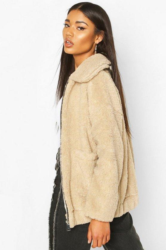 Faux Fur Teddy Trucker Jacket