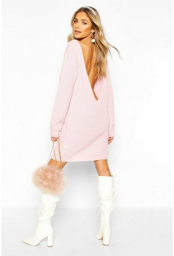 Pastel pink V Back Fisherman Oversized Dress