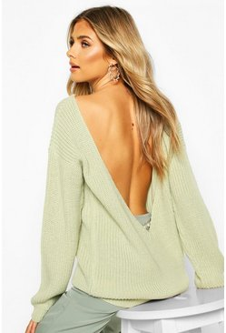 Sage V Back Oversized Jumper