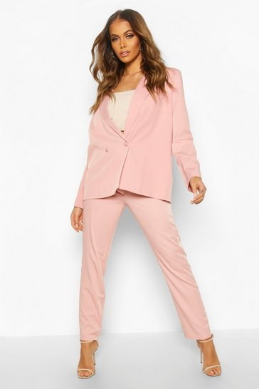 Womens Pink Premium Tailored Trouser