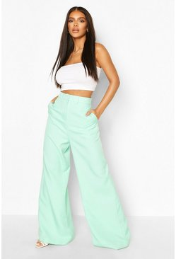 Pantalon ajusté coupe large premium, Mint